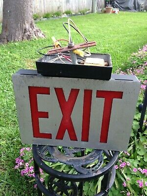 Vintage Metal Exit Sign/Commercial Industrial/Lithonia
