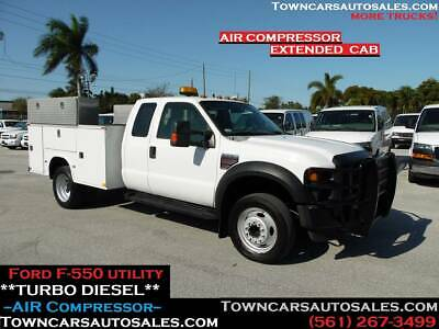 Ford F550 F-550 *EXTENDED CAB* Work Tool Utility SERVICE TRUCK AIR COMPRESSOR