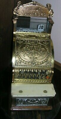 National Brass Cash Register 313, Barber Shop, Candy, Country Store, 1892-1910
