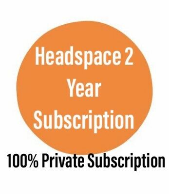 Headspace 24 Month Subscription Meditation Mindfulness App 2 Year iPhone Android