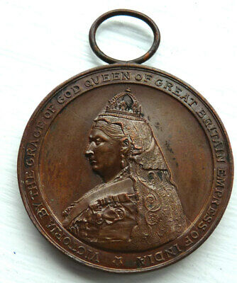 QUEEN VICTORIA DIAMOND JUBILEE 44mm MEDAL 1897