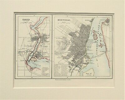1888 plan of Montreal and Niagara by W & A. K. Johnston