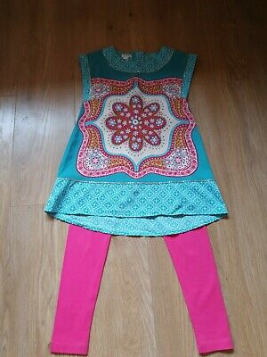Girls monsoon two piece leggins outfit age 7-8 in perfect condition