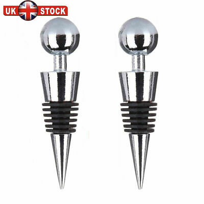 2x Jacob/'s Creek Quality Wine Bottle Stoppers Metal Cone Corks Bar Party Sealers