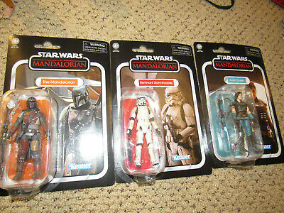 remnant MANDALORIAN CARA DUNE 3.75 VINTAGE COLLECTION STAR WARS IN HAND