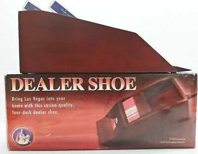 Dealer Shoe By Excalibur Poker/BlackjackWith Playing Cards New Unused