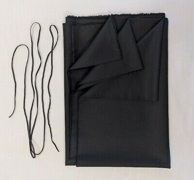 Woven 100% cotton Black Fabric Face Cover Kit with Elastic light weight