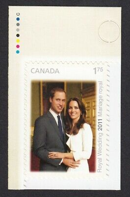 ROYAL WEDDING = PRINCE WILLIAM & CATHERINE w/colour ID Canada 2011 #2467 MNH