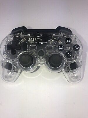 AfterGlow PlayStation 3 PS3 Clear Wireless Controller MINT