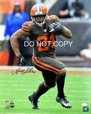Nick Chubb Signed 8x10 Autographed REPRINT PHOTO Cleveland Browns RP