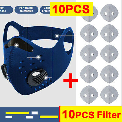 Nice Outdoor Breathable Face Shield Activate Carbon Filter Anti Dust Mouth Cover