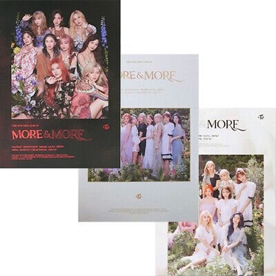TWICE [MORE & MORE] Mini Album 3 Ver SET+POSTER+3 Photo Book+15 Card+3 Pre-Order