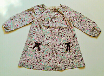 Girls Long Sleeved A Line Dress by Next Pretty Floral Pattern Age 4 - 5 Yrs