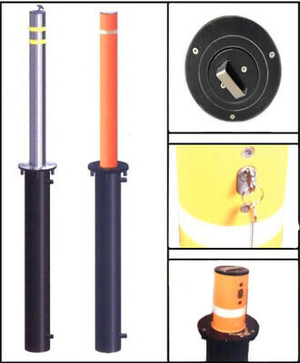 Retractable Bollard Ø 210 MM To Concreted from Steel With Alukopf