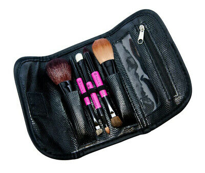 Royal And Langnickel Travel Essentials 5-Piece Cosmetic Brush Travel Set (Pink)