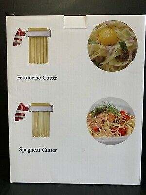 Pasta Cutter Attachment 2 Set for KitchenAid Stand Mixer Includes Fettuccine
