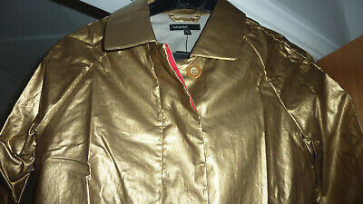 Marks & Spencer Autograph M&S Metallic Gold Raincoat Coat Mac Age 10 - 11 Bnwt