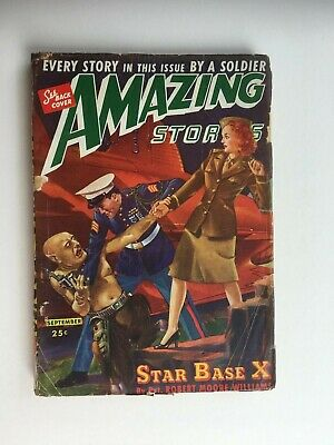 Amazing Stories - US SF pulp magazine - Sept 1944 - Frank R. Paul rear cover