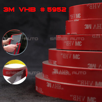 3M VHB #5952 Double-sided Acrylic Foam Adhesive Tape Automotive 1.5 Meters/5FT