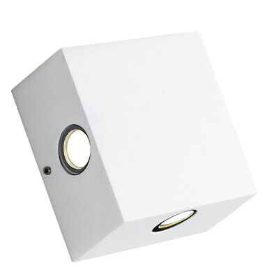 Airam Geta LED Outdoor Wall Light Four Beams 8 W 110 X 110 X 50 Mm Bianco