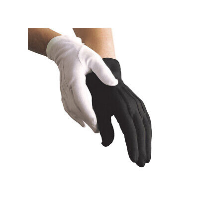 Black Cotton Gloves - men's & women's - Uniform, Parade, Military, Santa Gloves
