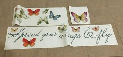 Roommates Wall Decals Butterflies & Quote