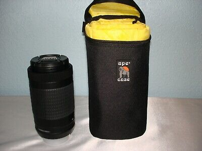 Nikon AF-P DX Nikkor 70-300mm 1:4.5-6.3G ED VR  Zoom Lens with ape case