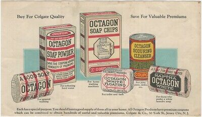 Colgate 'Octagon' Soap Bars, Cleansers & Chips Color Handbill Household Cleaning