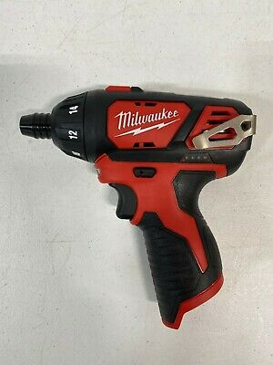 """Milwaukee 2401-20 1/4"""" Hex Cordless Screwdriver M12 12V Li-Ion (Tool Only) - NEW"""
