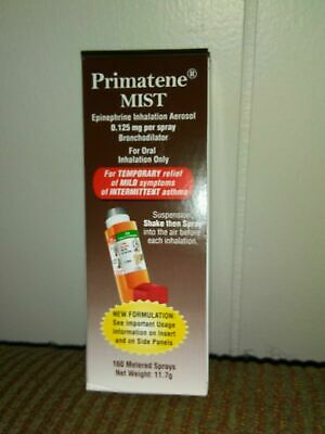 Primatene Mist inhalation Aerosol Relief 160 Sprays exp 12/2021