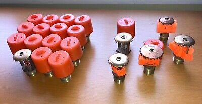 Set of Victaulic, Tyco, Pasco Upright Fire Sprinkler Heads (see description)