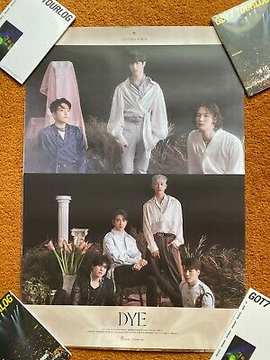 GOT7 - DYE Official Album Tubed Poster (Your Choice) + multiple item discount