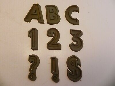 """256 Rubber Letters Numbers and Symbols Casting Stone Concrete Typeface 2"""" CAPS"""