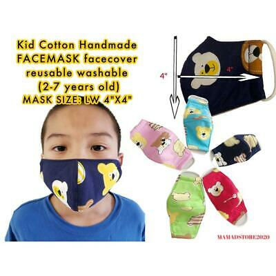 Kid Cotton Handmade Facemask facecover reusable washable
