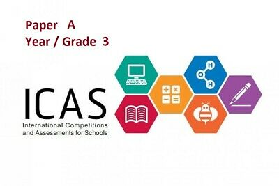 ICAS Paper A - Year / Grade 3 - Math English Science Technology Spelling