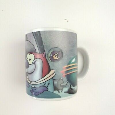 The Ren and Stimpy Show | Coffee Mug Vintage 1994 | Space Theme | Nickelodeon