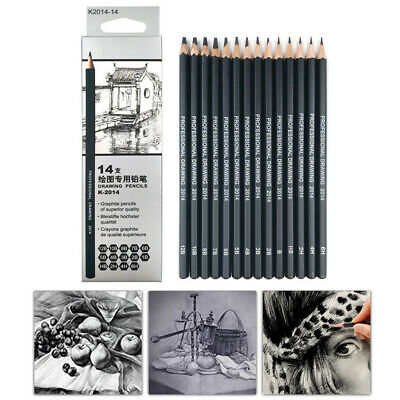 14pcs Pro Sketch Pencil Set 6H-12B Drawing Pencils For Art Painting Pencil Too