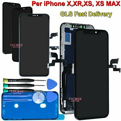 Display Per Apple Iphone X Xr Xs Max Lcd Vetro Assemblato Oled Touch Schermo Gls