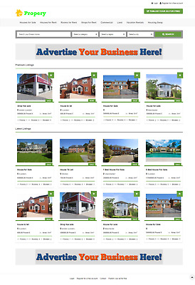 Property Listing Website For Sale (Portal, Estate Agent Agency)
