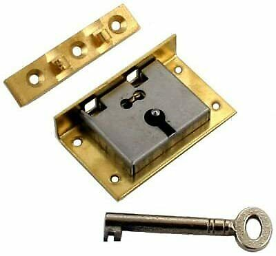Large Brass Half Mortise Chest Lock With Key, S-12