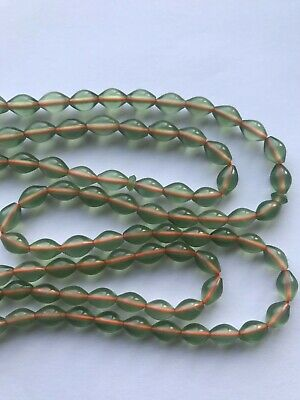 99 Sorted Genuine Light Green Shah Maghsoud Stone Praying Beads Tasbih / Misbaha