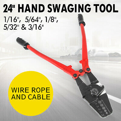 """24"""" Swaging Tool (Crimper) for Crimping Stainless Steel, Aluminium, or Cutter"""