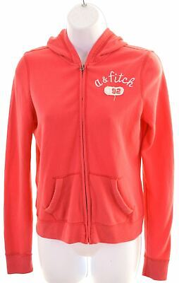 ABERCROMBIE & FITCH Girls Hoodie Sweater 13-14 Years XL Pink Cotton  KL13