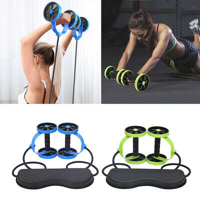 Double Ab Roller Wheel Slimming Abdominal Muscle Trainer Core Fitness Equipment