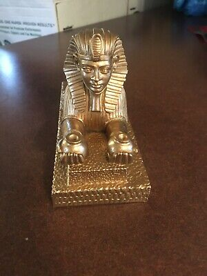 Vintage Sphinx Statue Egyptian Bookend Made In Italy
