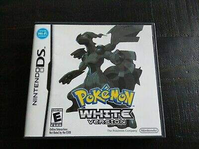 Pokemon: White Version (Nintendo DS, 2011) CASE and MANUAL/INSERTS ONLY-NO GAME!