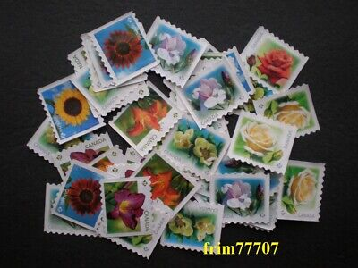 25 uncancelled 'P' 🌺Flowers design stamps Off Paper - No Gum ➕ Free Shipping 📭