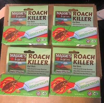 3 pack Maggies Farm Roach Killer Gel Bait Kills Small and Large Roaches Ants