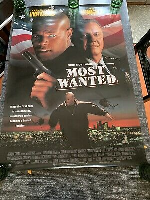 Original Most Wanted movie Vintage 1998 promotional poster - Pre-owned