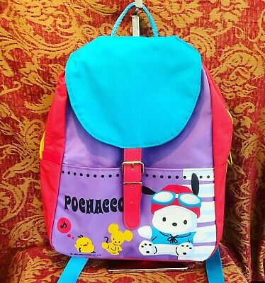 A Very Rare Vintage Multicolor Sanrio 1989,1999 Pochacco Backpack